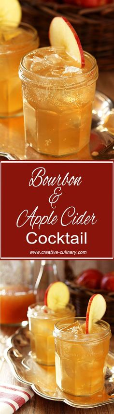 Bourbon and Apple Cider Cocktail - The perfect fall libation! From @creativculinary