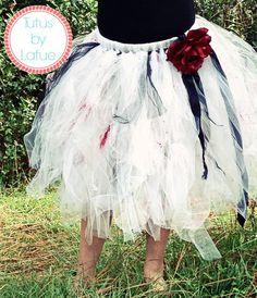 Girls Zombie/Vampire Tutu Skirt/Costume by TutusbyLafue on Etsy, $45.00