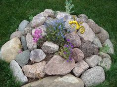 Starter Rock Garden-maybe for the side of the house where the tree was? Water Garden, Yard Ideas, Pathways, Stepping Stones, Therapy, Earth, Rock, Outdoor Decor, Fun