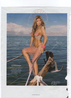 Embroidery on unknown Page. production year by Norwegian artist Erlend Helling-Larsen Year 2016, Popular Culture, Embroidery Art, Playboy, Bikinis, Swimwear, Feminine, Artist, Girls