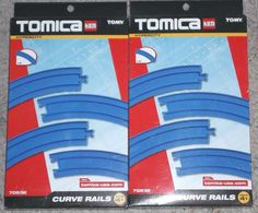 LOT OF 2 BOXES TOMICA BY TOMY CURVED RAILS FOR HYPERCITY TOTAL 8 RAILS #tomy