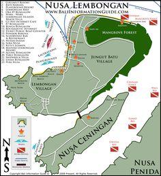 accommodation map Nusa Lembongan