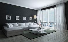 #lakberendezes #otthon #otthondekor #homedecor #homedesign #furnishings #design #furnishingideas #housedesign #decor #decoration #interiordesign #interiordecor #interiores #interiordesignideas #interiorarchitecture #interiordecorating #homedecoration #homedecorationideas #homedecorideas #monochromedesign #monochromelivingroom #monochromebedroom #monochromeinterior #monochromehome #monochromekitchen #blackandwhitedecor #blackandwhiteinterior Black And White Living Room, Black And White Interior, North Carolina Real Estate, Big Sofas, Floor Design, House Design, Small Living, Decorating Your Home, Interior Decorating