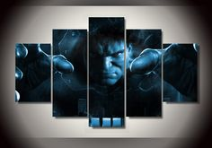 Style Your Home Today With This Amazing 5 Panel Hulk in Blue Framed Wall Canvas Art For $99.00  Discover more canvas selection here http://www.octotreasures.com  If you want to create a customized canvas by printing your own pictures or photos, please contact us.