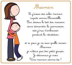 Poème fête des mères