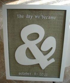 DIY Wedding Gift: Super cute idea I adore this I think I may make it for My husband & I <3