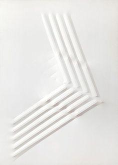 clear-glass:  Bianco, 1971, by Agostino Bonalumi