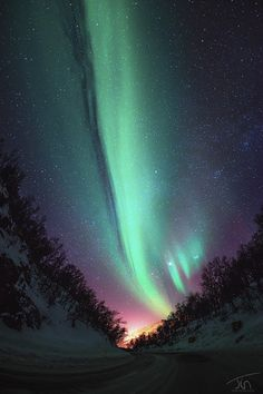 Aurora Road by Torivarn.  I need to see the Aurora Borealis before I die
