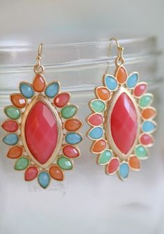 colorful earrings. these could go with just about anything