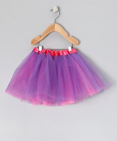 2-in-1 COUNT ME IN!!!  Take a look at this Hot Pink & Purple Reversible Tutu by American Tutu on #zulily today!