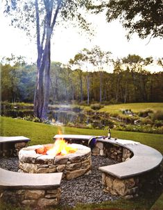 Firepit. This is exactly what I want to do, only with a taller back to lean against and double as a flower pot.