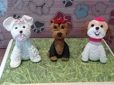 Polymer clay dogs cute dogs handmade dogs by NaomisSweetStuff