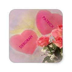 Create Your Own Square Sticker/DEBORAH & PATRICK...created by aggie