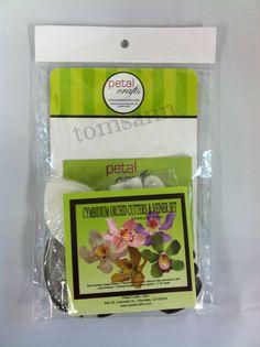 Petal Crafts Cymbidium Orchid Cutters & Veiner Set gum paste cake decorating #PetalCrafts