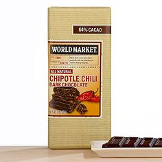 My favorite chocolate in the whole world~World Market® Chipotle Pepper Chocolate Bar, Set of 2 | World Market