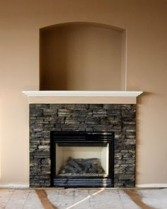 The fireplace look i like using the tennessee ledgestone for Stonecraft fireplaces