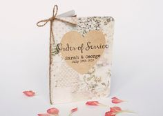 Wedding order of service  floral pastel rustic by normadorothy, £1.70