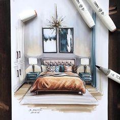 Interior Sketch - Bright Idea - Home, Room, Furniture and Garden Design Ideas Interior Architecture Drawing, Interior Design Renderings, Architecture Concept Drawings, Drawing Interior, Interior Rendering, Interior Sketch, Home Interior Design, Architecture Design, Interior Modern