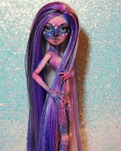 Galactic Gigi. Custom OOAK Gigi Grant monster high doll created by @LadySpoonArt