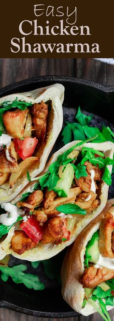 Homemade Chicken Shawarma | The Mediterranean Dish. Easy, healthy chicken shawarma recipe! With earthy spices, and an olive oil marinate. Recipe comes with sauces, salad etc. This flavorful shawarma is a hit every single time! See it on TheMediterraneanDish.com #shawarma #shawarmarecipe #chickenshawarma #mediterraneanrecipe #mediterraneandiet