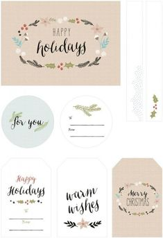 Printable Gift Tags by Best Day Ever