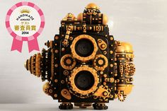 二眼レフカメラボックス SP Wooden Camera Steampunk