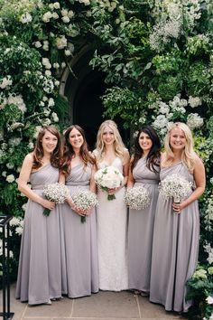 Bride & Bridesmaid Portrait - M&J Photography   Elegant London Wedding   White & Greenery Florals