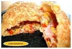 Glutenfreie Calzone!!! Saftige Füllung umhüllt von dünnem Teig - einfach köstlich! www.rezepte-glutenfrei.de