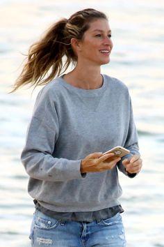 WHO: Gisele Bündchen WHERE: On the beach, Rio de Janeiro, Brazil WHEN: August 7, 2016