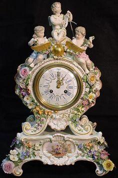 Meissen cherub clock...