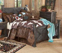 Western bedroom furniture western bedroom furniture sets home design Rustic Bedroom Sets, Western Bedroom Decor, Western Bedrooms, Western Bedding, Cowgirl Bedroom, Rustic Bedding, Interior Design Living Room, Living Room Designs, Interior Paint