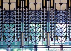 Frank Lloyd Wright windows, artsy cool.