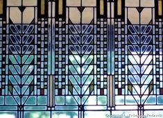 Frank Lloyd Wright windows, artsy cool.