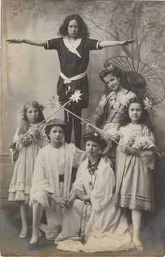 Fancy Dress ... Edwardian style!  - Geisha on Right