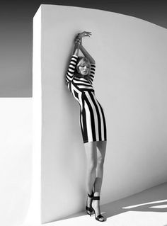 black & white stripes.