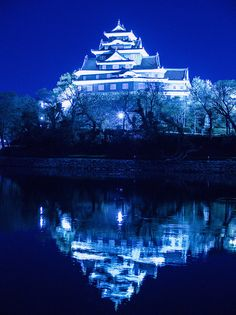 Okayama Castle ~ Japan.  Disney stole the castle concept...that's what I think.