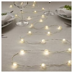 Led String Light With 40 Lights SnÖyra Indoor Battery Operated Silver Color