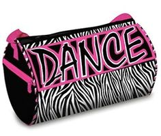 941af129349a Zebra Dance Duffel. You Go Girl Dancewear http   www.yougogirldancewear.