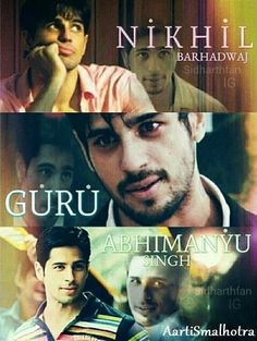 Whether its Abhimanyu, Nikhil or Guru, he stole many hearts easily(^_^) Sid!!