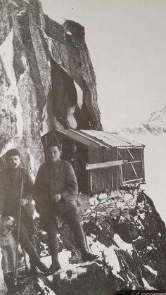 Italian barracks on mount Adamello, WWI