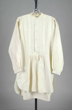 Wedding shirt Date: 1863 Culture: American Medium: Linen