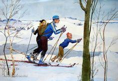 Волков Анатолий Валентинович (Беларусь, 1908-1985) «На лыжах»