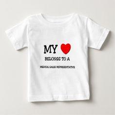 My Heart Belongs To A MEDICAL SALES REPRESENTATIVE Infant T Shirt, Hoodie Sweatshirt