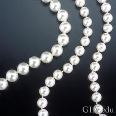Don't be fooled this #AprilFoolsDay! Did you know that that there is a product remarkably similar in appearance to saltwater cultured #pearls? A strand of Majorica imitation pearls is shown on the left; two smaller strands of #culturedpearls are on the right. Photo: Shane McClure/GIA