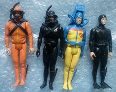 Vintage Action Force Figure s Divers x4 Lot