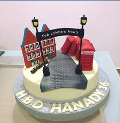 Old London Road in Kingston Surrey UK ... A beautiful and delicious cake made for my birthday