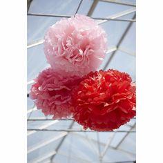 Anniversaire - pompoms papier engel rouge vente accessoires et objets décoration enfants : My Little Bazar.