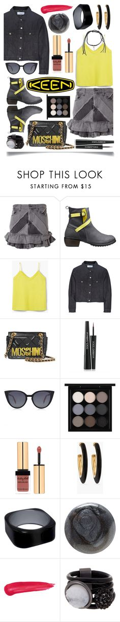 """""""So Fresh and So Keen: Contest Entry"""" by ittie-kittie ❤ liked on Polyvore featuring Marc by Marc Jacobs, Keen Footwear, MANGO, Marques'Almeida, Moschino, Dolce&Gabbana, Fendi, MAC Cosmetics, Chico's and Christian Louboutin"""