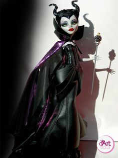 Maleficent monster high ooak doll by OskArt Dolls, via Flickr