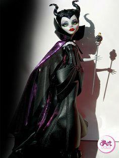 Maleficent monster high ooak doll by OskArt Dolls, via Flickr